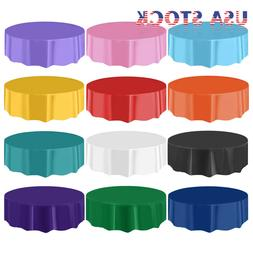 """10/20/40 84"""" Dia Round Table Cover Tablecloth Plastic Table"""