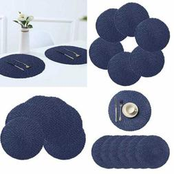 """15"""" LARGE Round Placemats Set Of 6 For Dining Table Heat Res"""