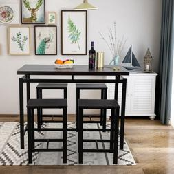 5-Piece Dining Table Set W/4 Chairs Wood for Home Kitchen Ro