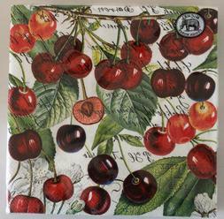 20 x Paper Napkins Black Cherry Square Serviette Michel Desi