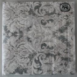 20 x Paper Napkins Earl Grey Square Serviettes Michel Design
