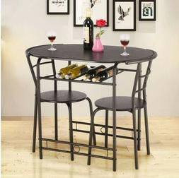 2019 Giantex 3 PCS Dining Set Table and 2 Chair Home Kitchen
