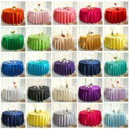22 colors Satin Tablecloth Table Cover For Wedding Party Fes