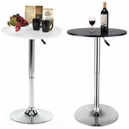 "23.6"" Round Bar Stool Pub Bar Table Adjustable Swivel Counte"