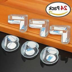 24 pcs Safety Desk Table Edge Cover Protector Corner Guard -