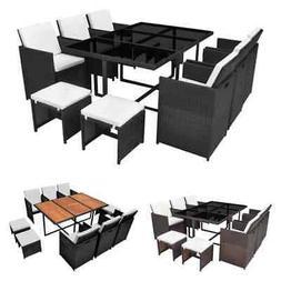 27pcs Patio Rattan Wicker Garden Dining Set Outdoor Chairs T