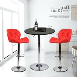 3 PCS  Counter Height Dining Set Round Bar Table 2 Stools Ki