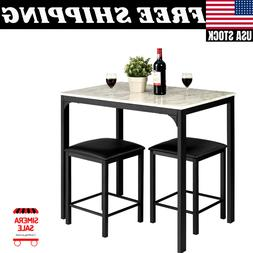 3 Pieces Counter Height Table Set 2 Chairs Bar Dining Room F