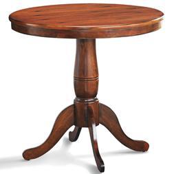 "32"" Round Pedestal Dining Table High Top Pedestal Table Kitc"