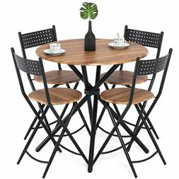 Dining Set 4 Chairs Round Table For Home Office Coffee Table