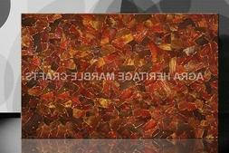 4'x2' Marble Top Dining Table Counter Height Red Jasper With