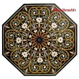 48'' Marble Patio Table Lawn & Garden Table Top India Herita