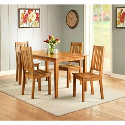 5 Piece Dining Room Table Set For 4 Farmhouse Wooden Kitchen
