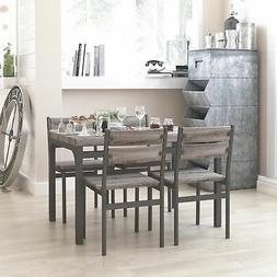 Zenvida 5 Piece Dining Set / Breakfast Nook, Table and 4 Cha