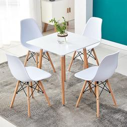 5 Piece Dining Table Sets 4Pcs Chairs Wooden Legs Kitchen Ro