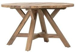 """51"""" Dia. Leila Dining Table Recycled Teak Wood Indoor Outdoo"""