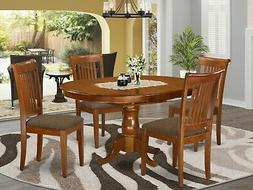 5pc Portland oval kitchen dining set table + 4 upholstered c