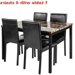 5pcs dining set kitchen room table set