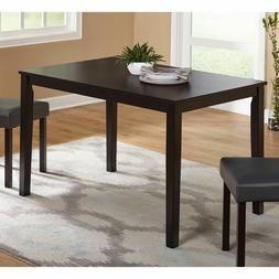 """MALKO 6 Person Cappuccino Rectangular Dining Table Only 60"""""""