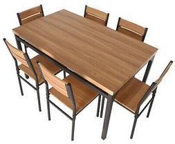 Zenvida 7 Piece Dining Set Rectangular Table and 6 Chairs