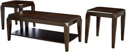 Acme Furniture 80655 Docila 3Piece Coffee End Table Set, Wal
