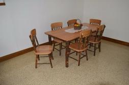 A&L Furniture Co. Amish-Made Hickory 7-Piece Dining Sets - T