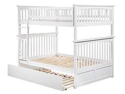 Atlantic Furniture AB55552 Columbia Bunk Bed, White