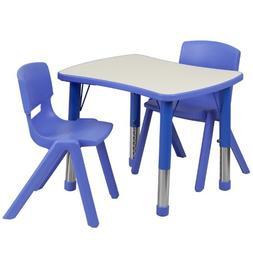 Flash Furniture Adjustable Rectangular Plastic Activity Tabl
