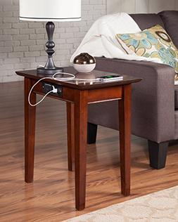 Atlantic Furniture AH13114 Shaker Side Table Rubber Wood, Wa