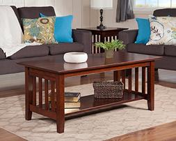 Atlantic Furniture AH15204 Mission Coffee Table Rubberwood,