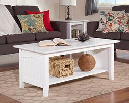 Atlantic Furniture AH15302 Nantucket Coffee Table Rubberwood