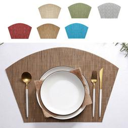 Best Round Place Mats Table Placemats Wedge Polyester PVC Bl