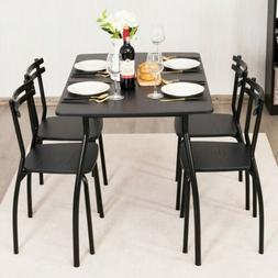 5pcs Dining Table Set Kitchen Furniture Rectangle Table with