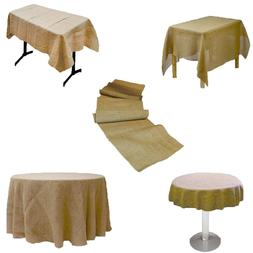 Burlap Tablecloth Rectangular,Square,Round & Table Runners