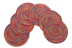Camellia® Woven Colorful Non-Slip Table Placemats 15 Inches