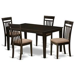 East West Furniture CAP5S-CAP-C 5-Piece Formal Dining Table