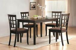 Acme Cardiff Espresso Dining Table made by rubberwood, board
