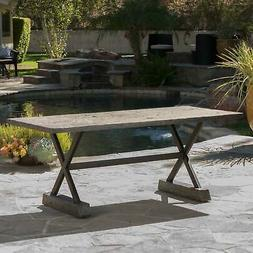 Chalmette Outdoor Dining Table by Christopher Knight Home