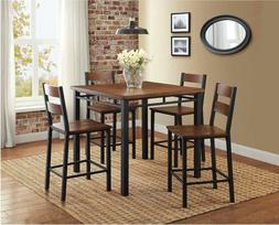 Counter Height Dining Set Mercer 5-Piece Kitchen Dining Furn