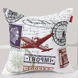 Deconovo Decorative Print Square Pillow Cover Case Cushion C