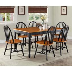 Dining Room Table Set Farmhouse Country Wood Kitchen Tables