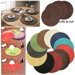 Set of 4 Woven Insulation Pad Home Dining Table Bowl Kitchen