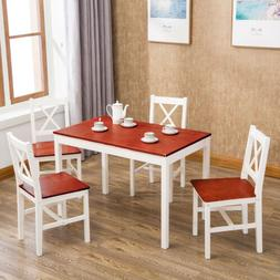 Dining Table Set of 5 with 4 Dinette Chairs Kitchen Furnitur