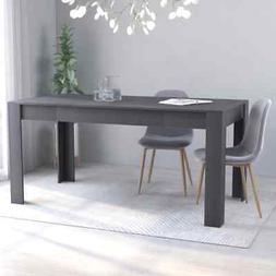 "vidaXL Dining Table Sleek Modern Gray 63"" Chipboard Home Kit"