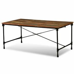 Dining Table Solid Reclaimed Wood 70.9""