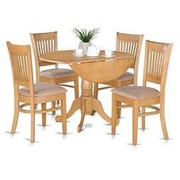 East West Furniture DLVA5-OAK-C 5-Piece Kitchen Table Set, O