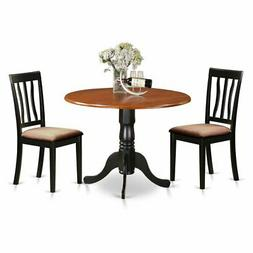 East West Furniture Dublin 3 Piece Drop Leaf Dining Table Se
