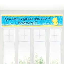 Ducky Duck - Baby Shower Decorations Party Banner