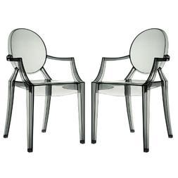 Modway EEI-905-CLR Casper Dining Armchairs Set of 2 In Clear