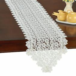 Elegant Daisy Crochet Kitchen and Dining Table Linens